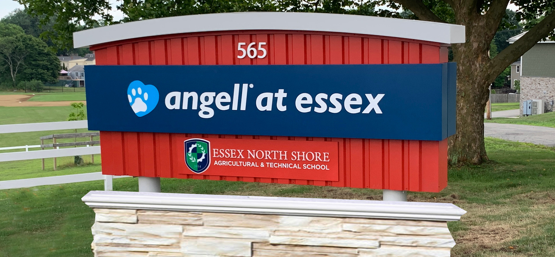 Angell at Essex Exterior Sign