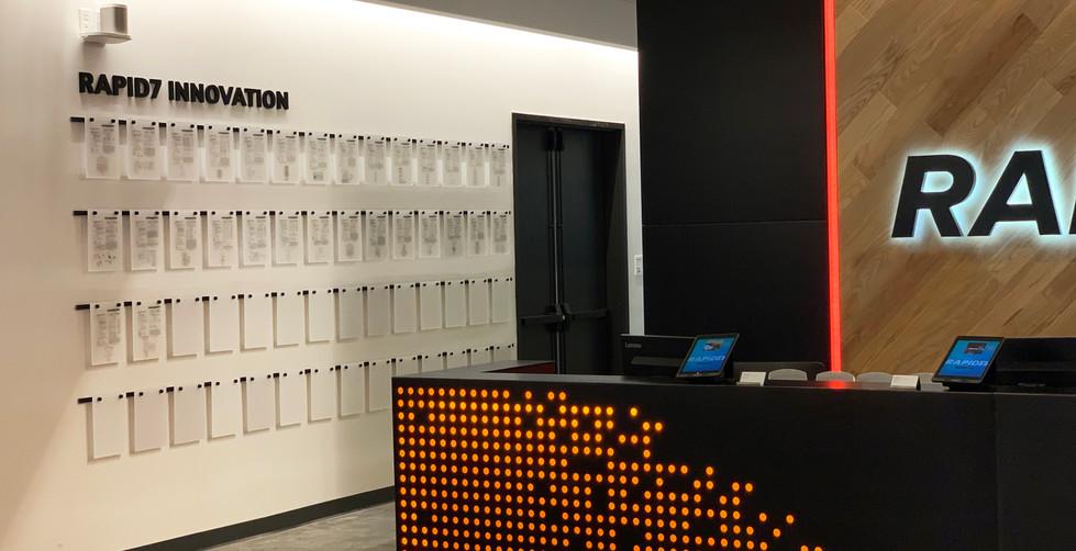 Rapid7 Patent Wall Display