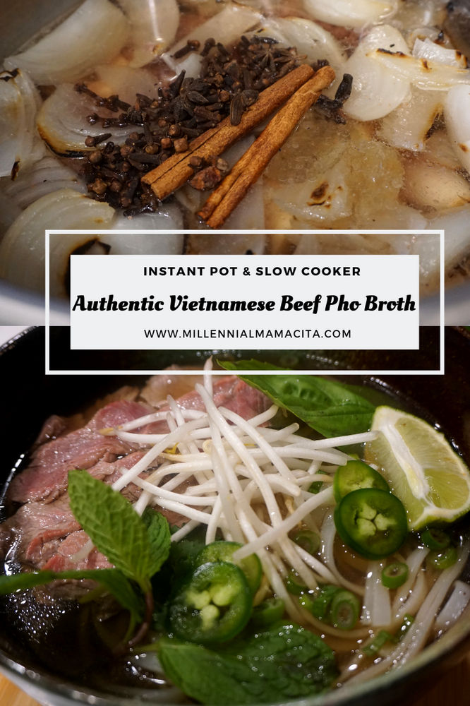 Authentic Vietnamese Beef Pho Broth: Instant Pot and Slow