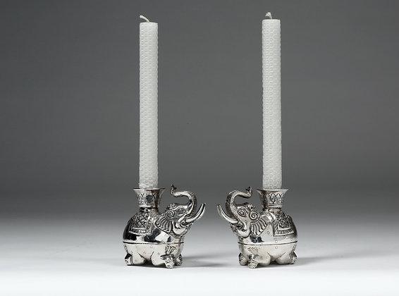 Silver Box - Elephant Candle Holder