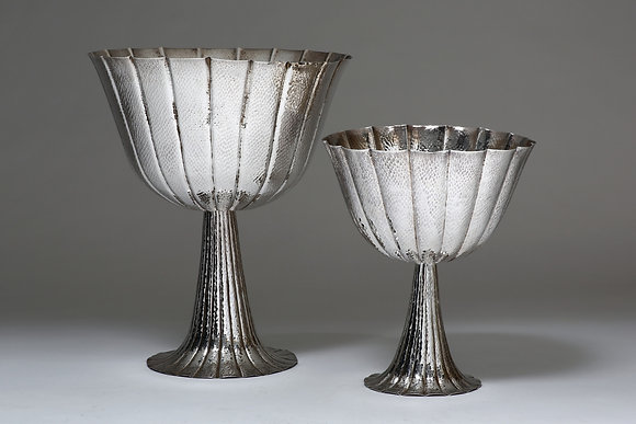 Silver Raised Fluted Bowl