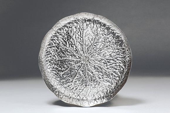 Silver Lotus Leaf Flat Dish