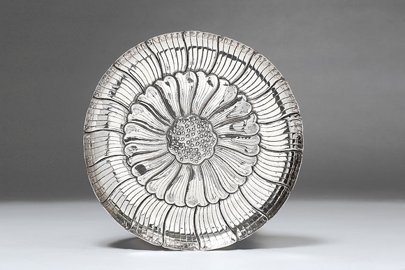 Silver Lotus Seedpod Flat Dish