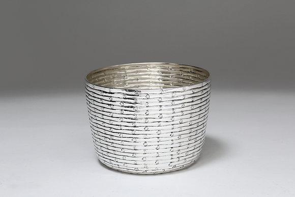 Silver Bowl - Horizontal Bamboo