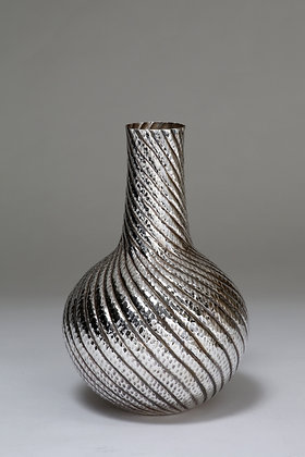 Silver Tall Neck Vase