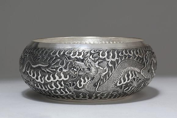 Silver Bowl - Dragon