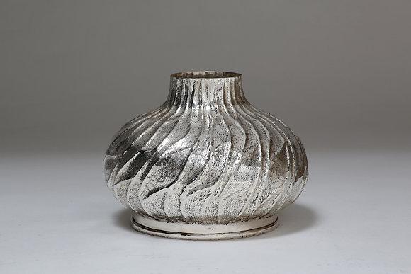 Silver Swirling Vase