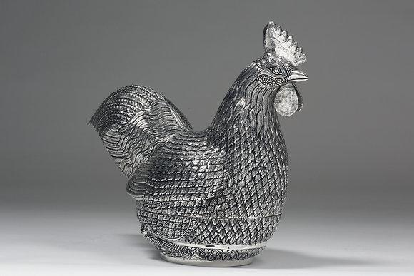Silver Box - Cockerel