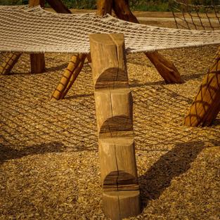 wooden adventure step