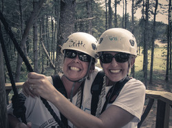 Squeeze each other - tandem zipping!