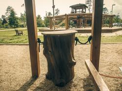 Natural play playground