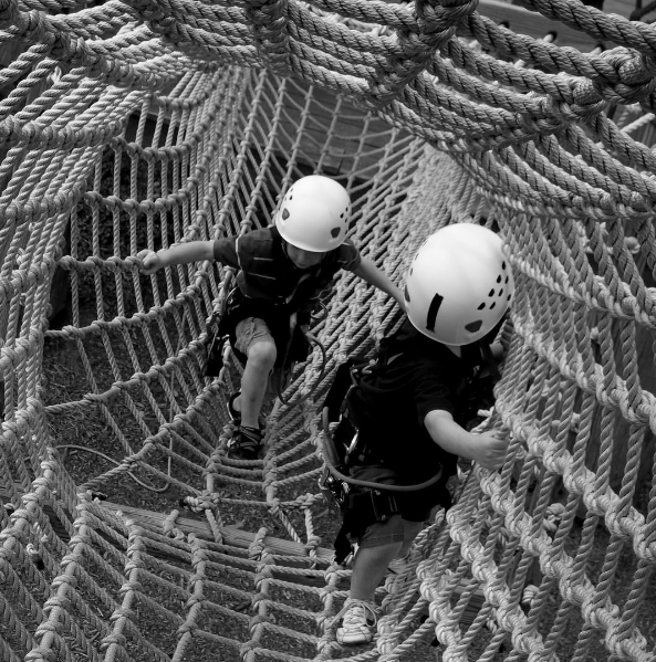 Traverse the cargo nets