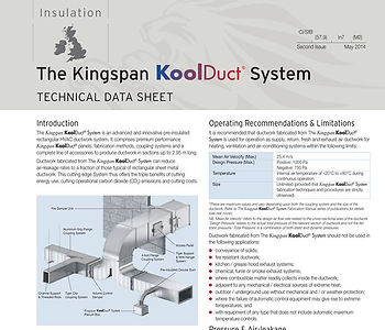 KoolDuct Technical Data