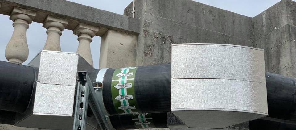 Paroc sections & PIB plus stucco aluminium boxes