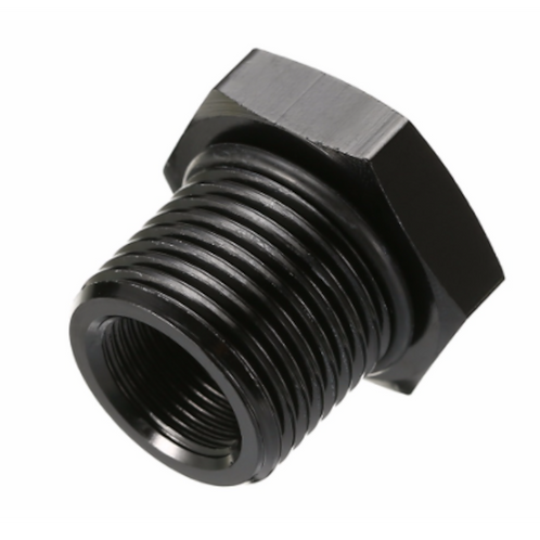 OIl Filter Threaded Adapter - Anodized Black