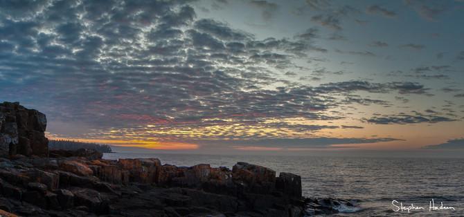 sunrise on horseshoe bay panorama