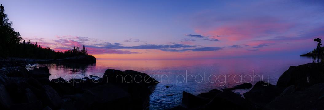 horseshoe bay during golden hour