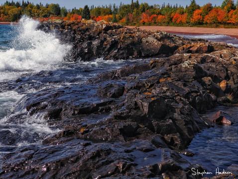 fall along the shore