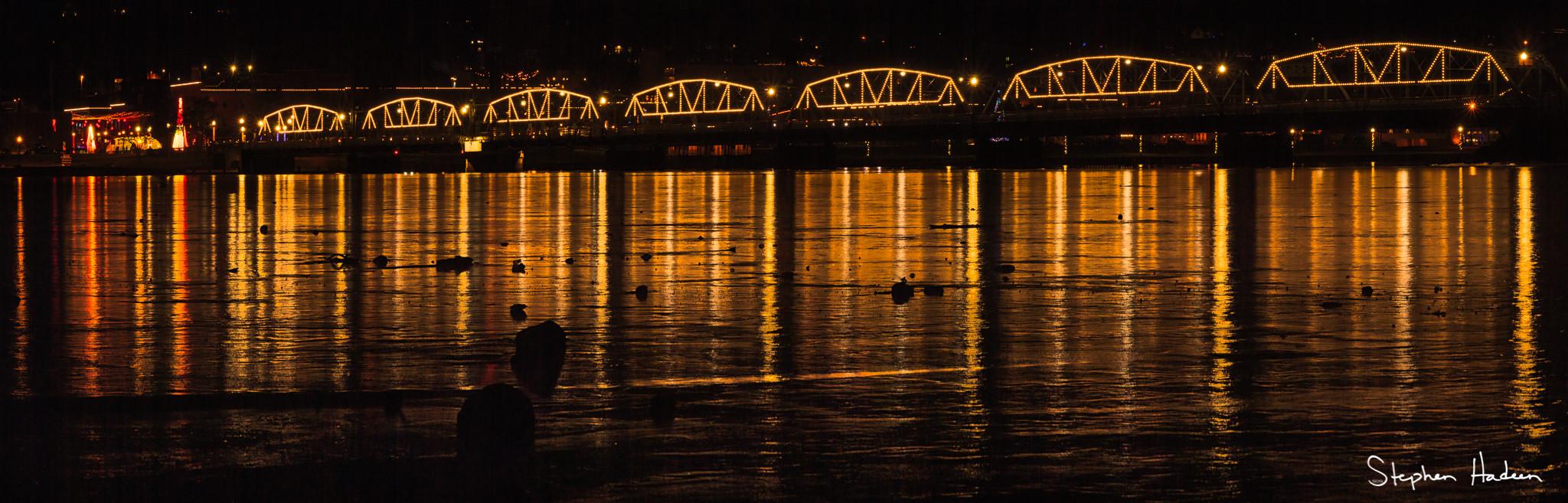 stillwater historical bridge lighting