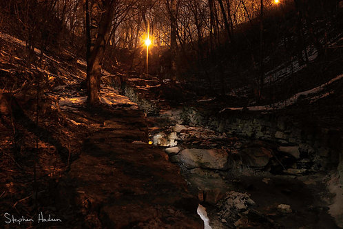 hidden falls light painting