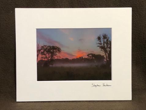 sunrise fog mounds view mn