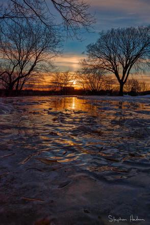 sunset at linwood rec center