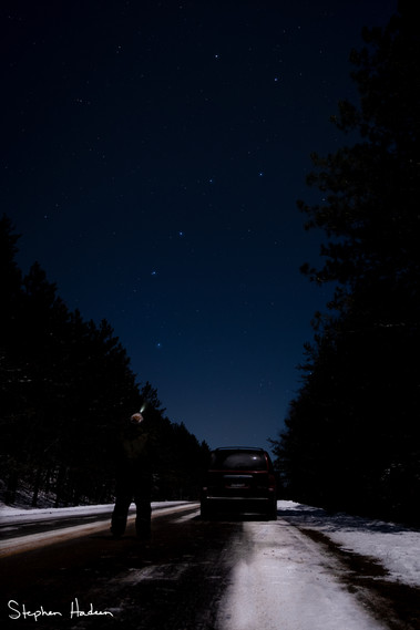 checking out the big dipper