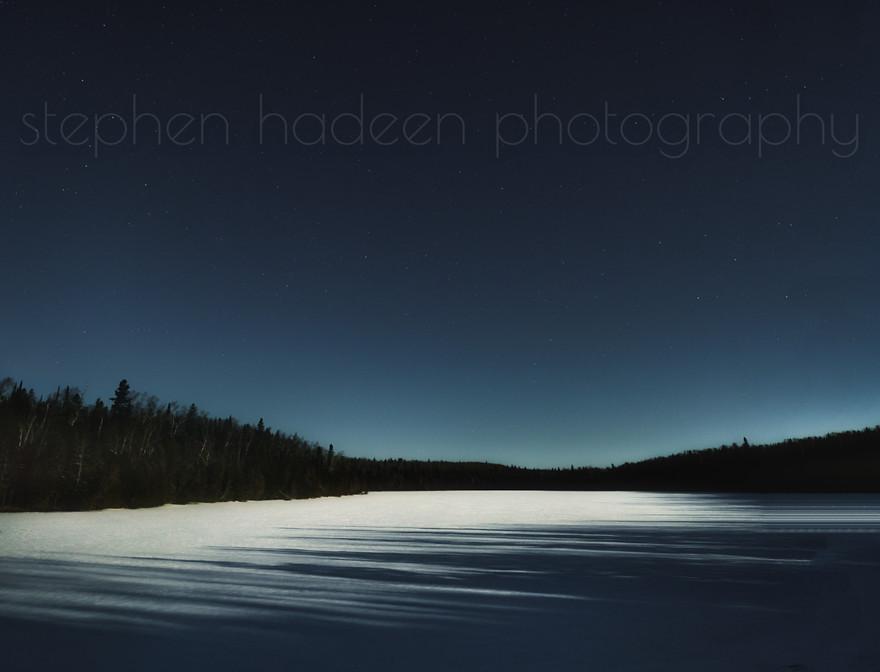moonrise over echo lake