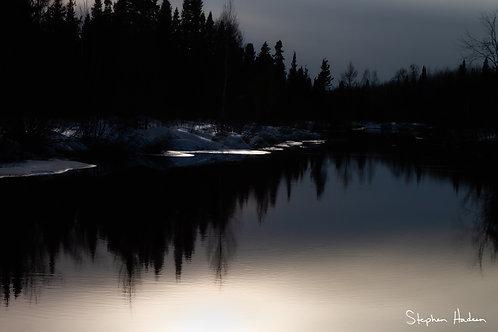 sunset over brule river