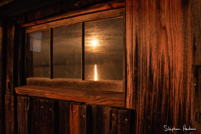 fishing shack window