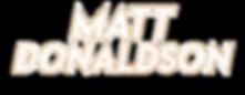 Matt Donaldson Text Logo