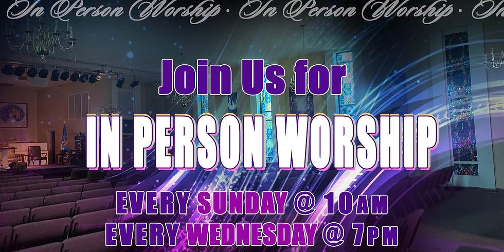 Sunday or Wednesday Worship Celebration Service