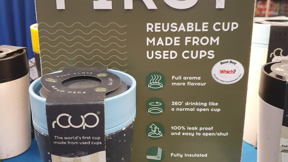 rCUP Reusable Cup Blue and Black 8oz