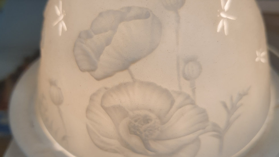 Poppies Tea Light Dome