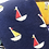 Thumbnail: Mr Heron Bamboo Socks Little Boats Navy