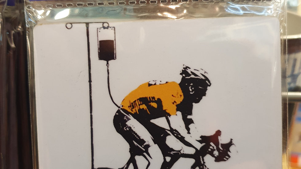 Banksy Wooden Coaster Lance Armstrong