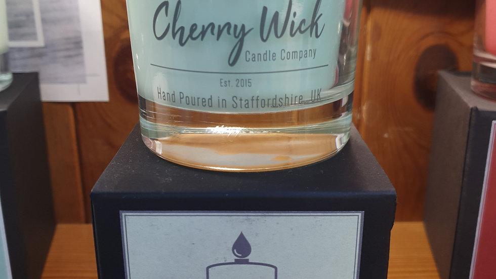 Cherry Wick Candle Lime,Basil and Mandarin