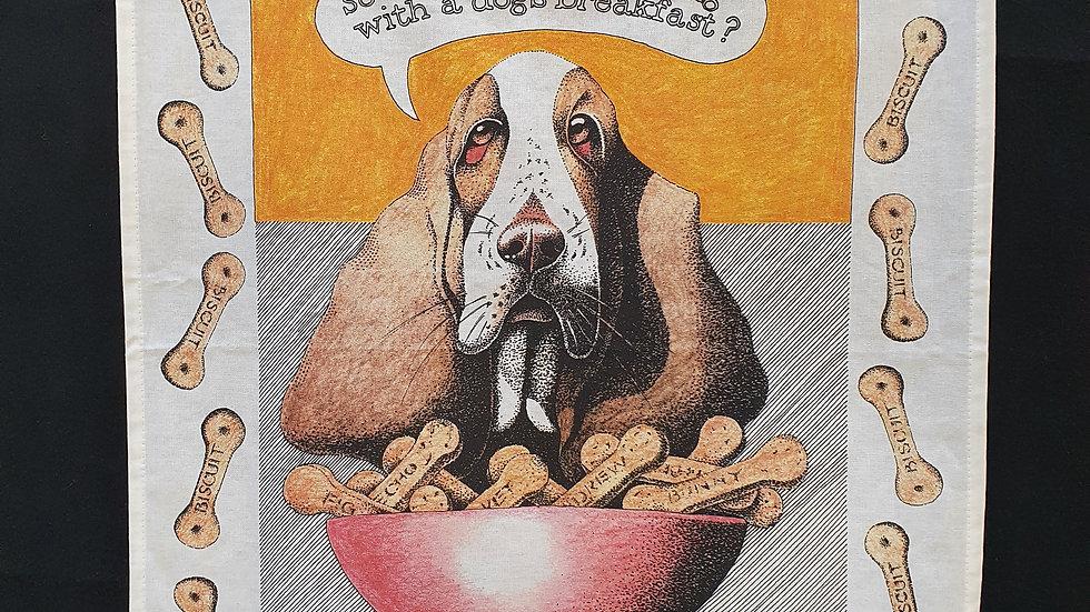 Simon Drew T towel Dogs Breakfast