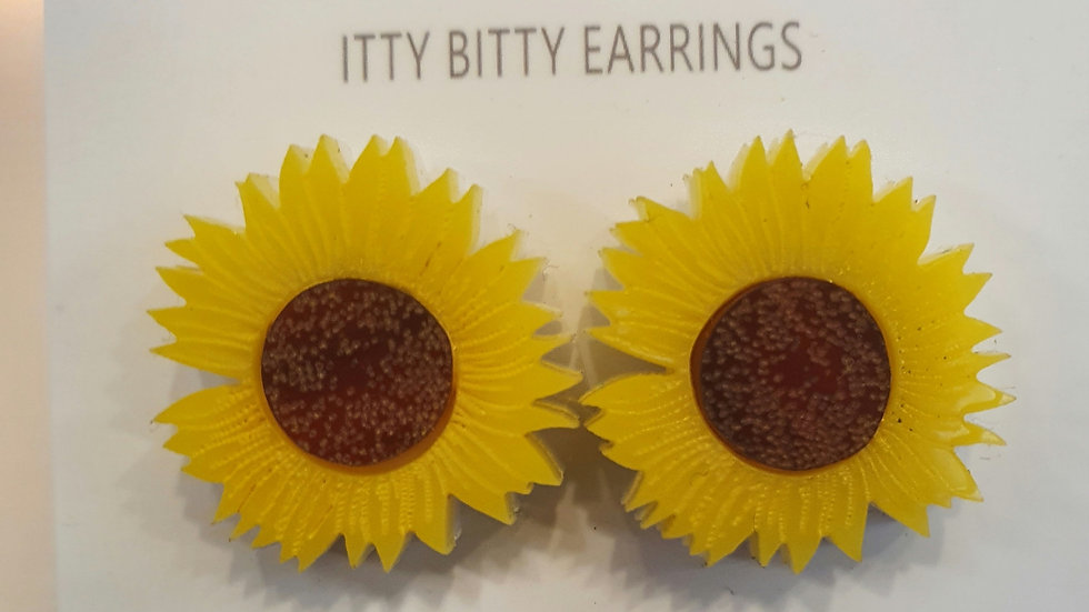 Kimchi and Coconut Sunflower earrings
