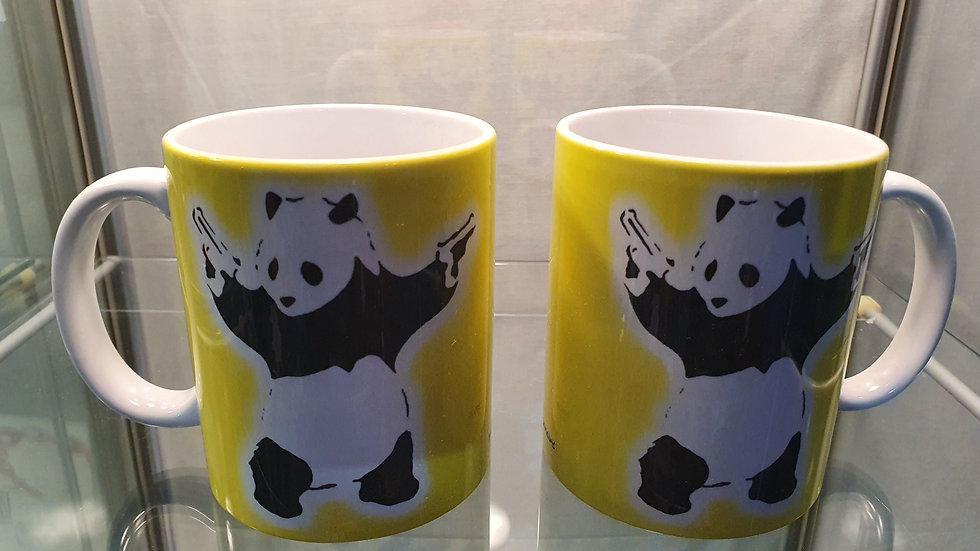 Banksy Mug Panda With Guns