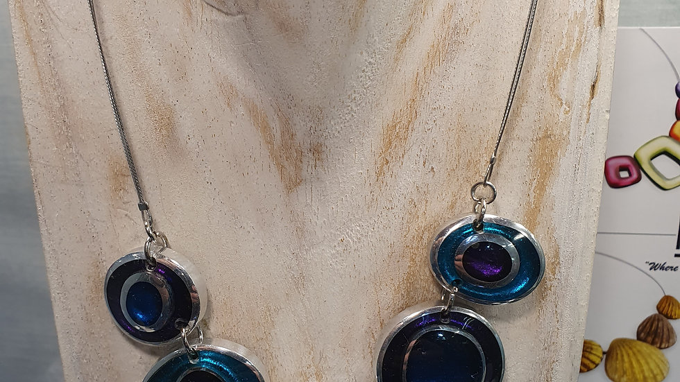 Watch This Space Peacock Organic Circles Necklace