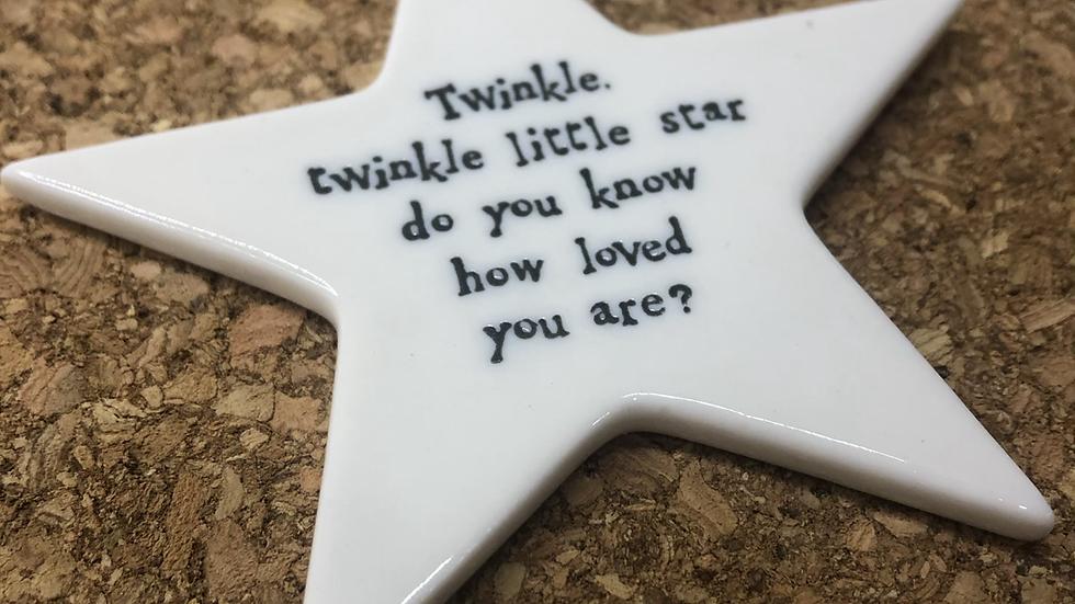 Ceramic Hanging Star Twinkle Twinkle