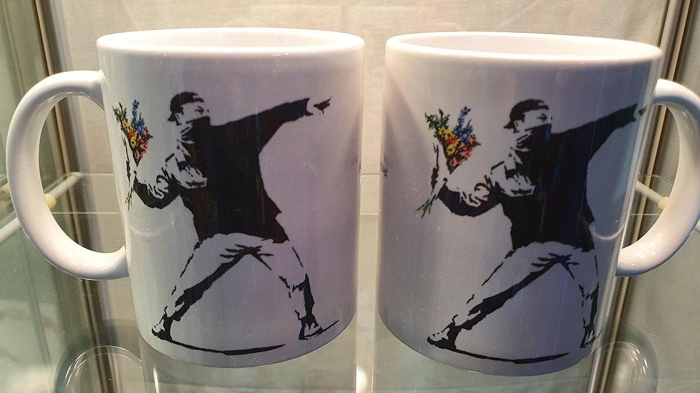 Banksy Mug Love Is In The Air