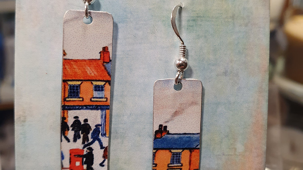 Hammered in Yarkshire Tin Earrings