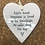 Thumbnail: Ceramic Hanging Heart  Lifes Truest Happiness