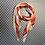 Thumbnail: Pink, red, orange, and yellow stripe scarf