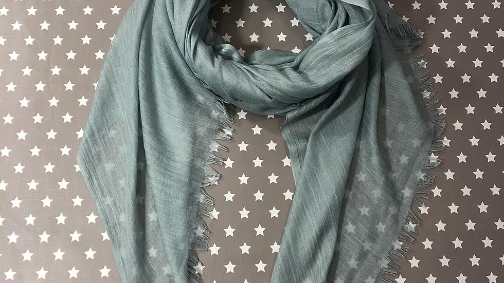 Pale blue scarf
