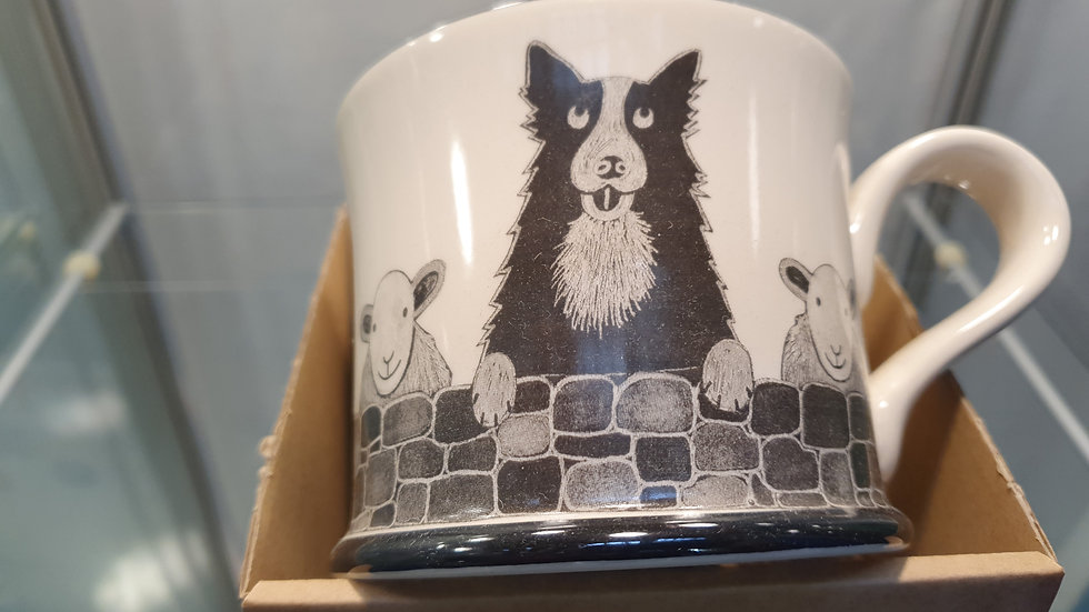 Moorland Pottery Sheep dog