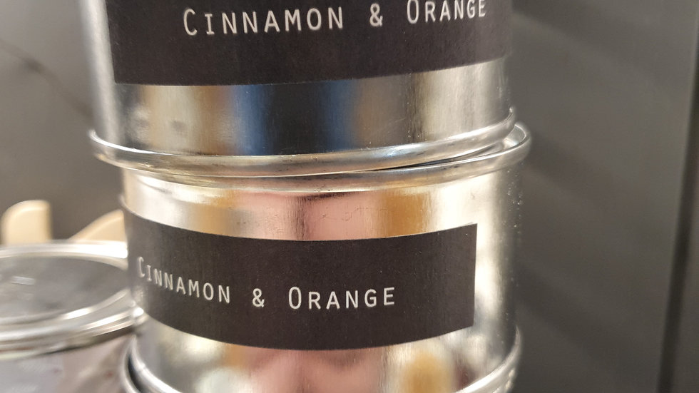 Candle Tin Cinnamon and Orange