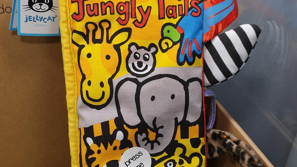 Jellycat Jungle Tails Fabric Book